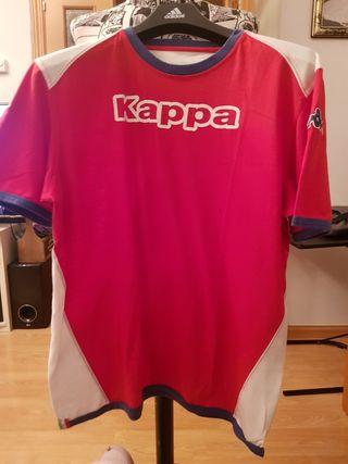 Camiseta roja y blanca Kappa XL