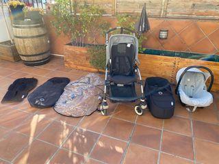 Cochecito: Capazo + silla de paseo Bugaboo Bee 3