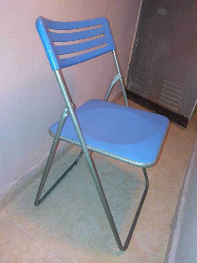 silla plegable metal y plástico