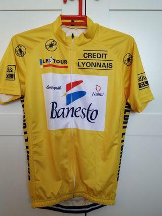 Maillot amarillo ciclismo Tour 1993 Indurain