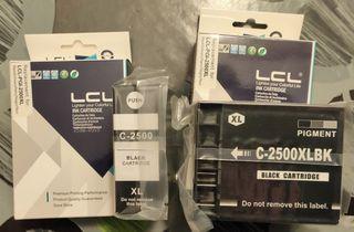 2 Cartuchos de tinta negro para canon Maxify