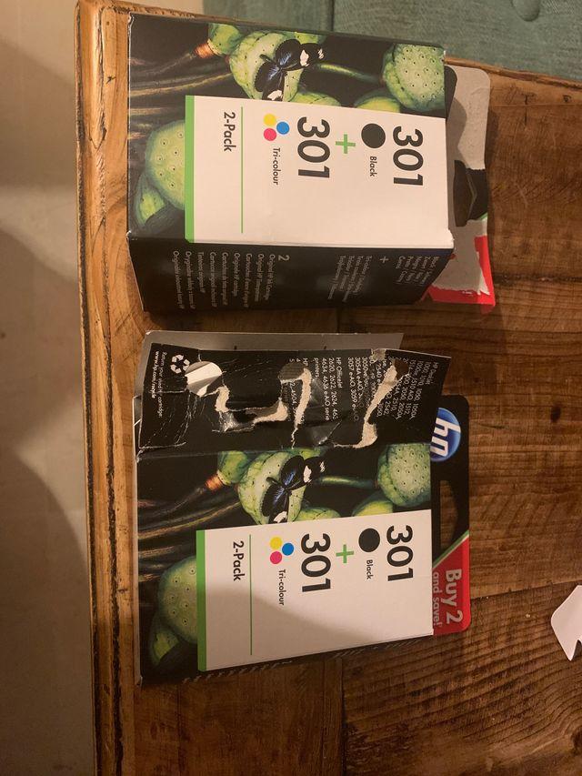Cartuchos HP 301 negro y color pack 2