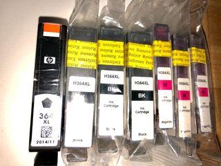 Cartuchos tinta HP 364 XL compatibles.