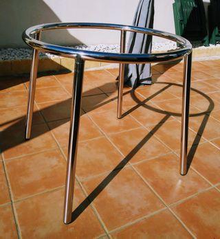 Base metálica de mesa para poner cristal