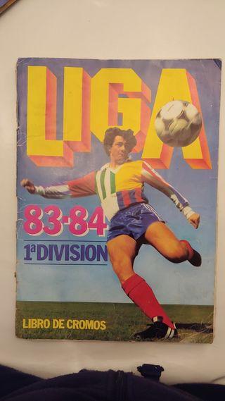 Libro de cromos. Liga 83/84