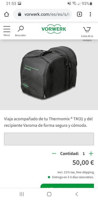 Bolsa de transporte Thermomix TM31. Viaje.