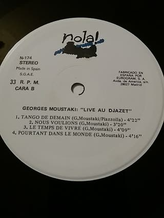 "Georges Moustaki ""Live au Djazet"""