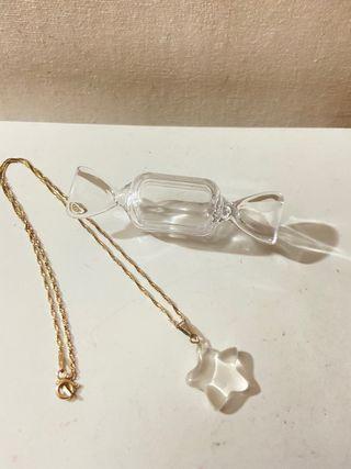Cadena de plata con colgante de cuarzo