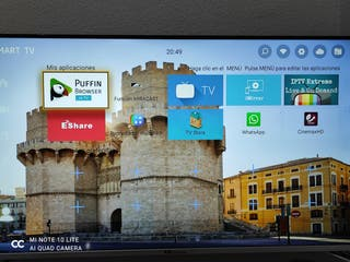 smart TV case nuevo