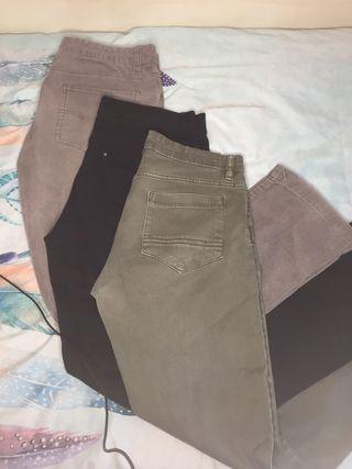 3 Pantalones de hombre