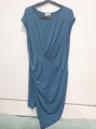 Vestido Prenatal premamá embarazada azul XL nuevo