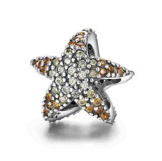 Charm estrella de mar con circonitas plata 925.