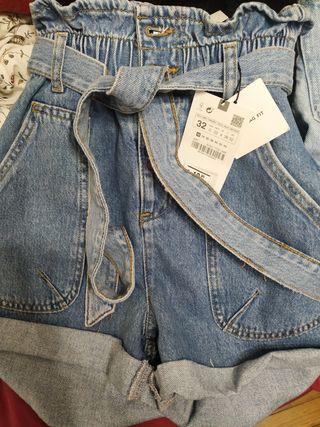 Shorts Zara talla 32 Paper bag fit