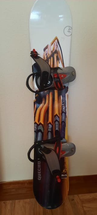 Tabla snowboard 148cm + fijaciones + funda