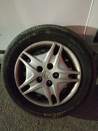 """4 llantas 15"""" + neumáticos"""
