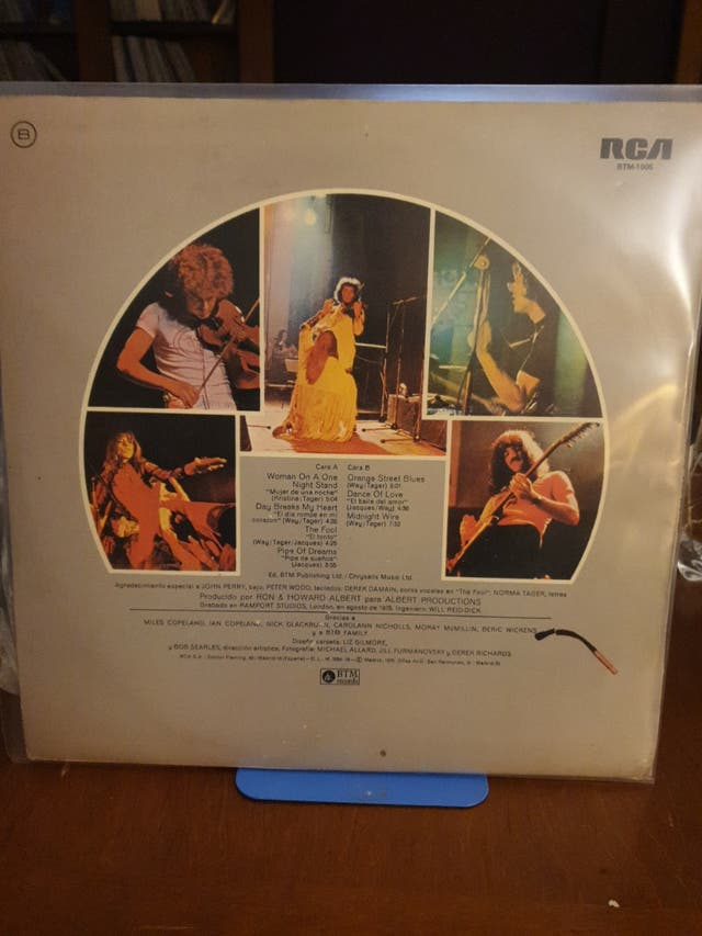 DISCO VINILO CURVED AIR MIDNIGHT WIRE PROMOCIONAL