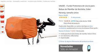 Funda bolsa bicicleta con visor transparente VAUDE
