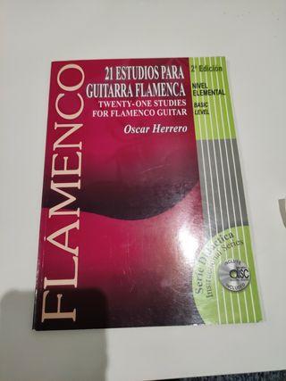 21 estudios para guitarra flamenca Óscar herrero