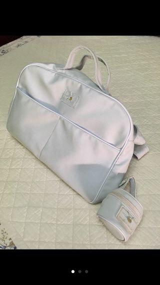 Bolsa de viaje bebé y regalo chupetero