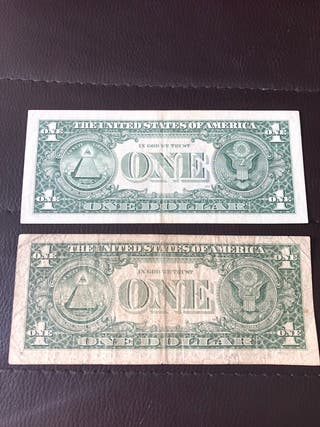 Bilietes de 1.y 2. Dólares