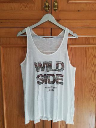 Camiseta de tirantes blanca - Wild Side