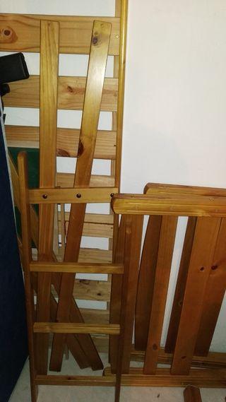 Literas de madera de pino