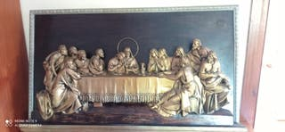 cuadro antiguo 100 años de la Santa Cena