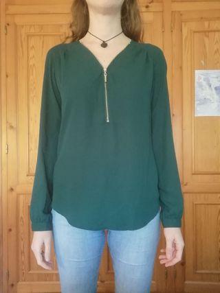 Camisa verde oscuro