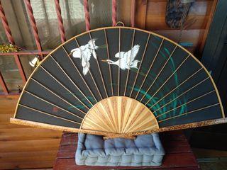 Abanico decorativo de bambú para pared