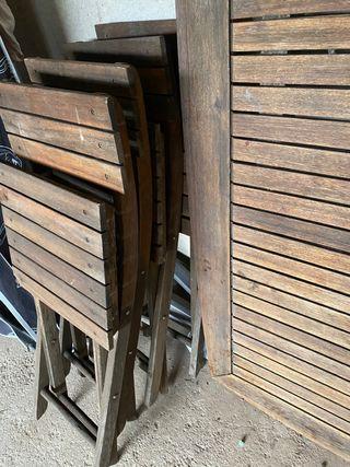 Conjunto terraza mesa+sillas