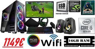 Pc Gaming completo RGB 2021 Nuevo con garantía