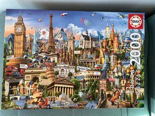 Puzzle 2000 piezas - Símbolos de Europa