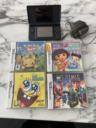 Nintendo DS con 4 juegos