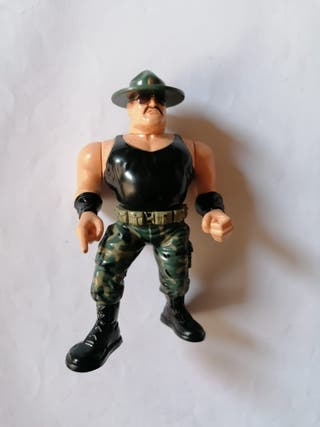 Sargento Slaughter 3 wwf Pressing Catch Hasbro