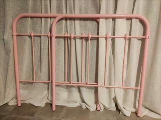 Cabecero metálico rosa
