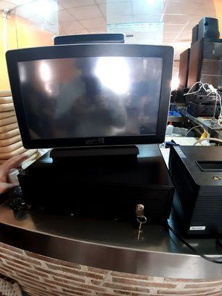 caja registradora , pantalla, tablet y comandero