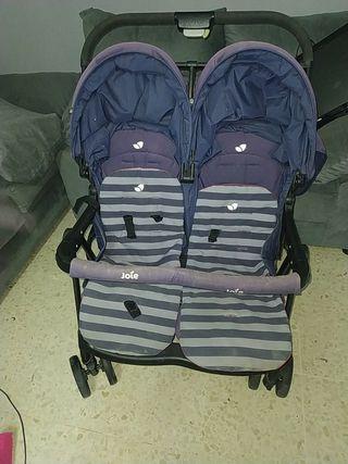 carrito de bebés gemelos