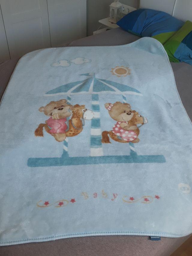 manta calida grande bebe/niño + otra gratis