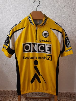 Maillot Ciclismo Once Deustche Bank años 90