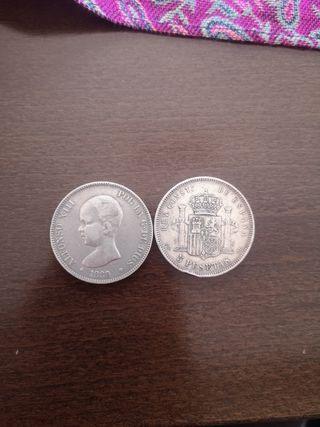 Monedas Alfonso XIII 5 ptas