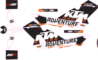 kit adhesivos ktm 1988-2021 todos los modelos