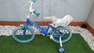 """Bicicleta niña Disney Frozen 16"""""""