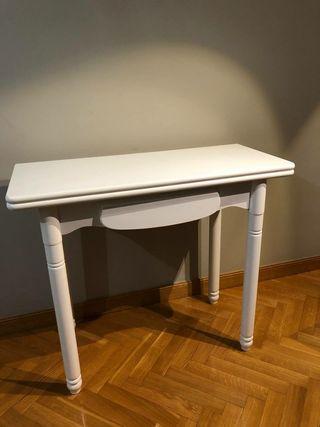 Mesa de cocina madera blanca