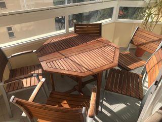 Set mesa y 5 sillas terraza