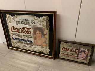Pareja espejos Coca Cola vintage.