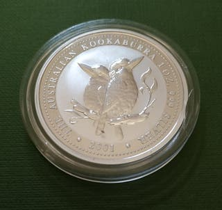 Moneda 1 dólar plata australiano 2001 - Kookaburra