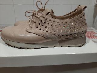 Zapatos piel rosa nude Hispanitas talla 39