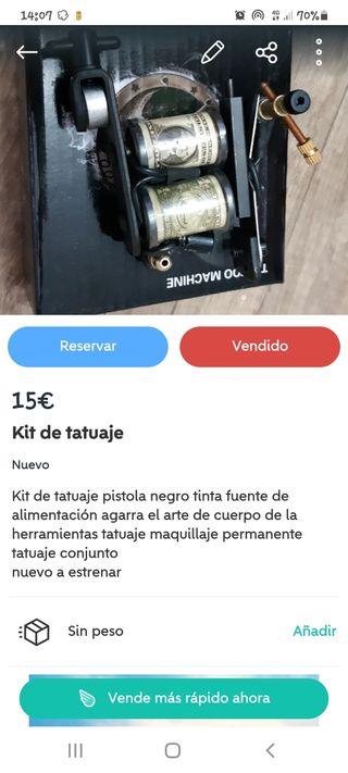 lote Compresor de aire + kit tatuajes