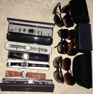 gafas y relojes para mujeres en muy buen estado