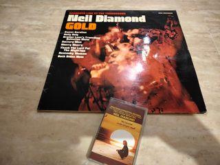 lote vinilo y cassette NEIL DIAMOND